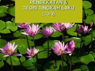 PENDEKATAN &  TEORI  TINGKAH  LAKU (10-3)