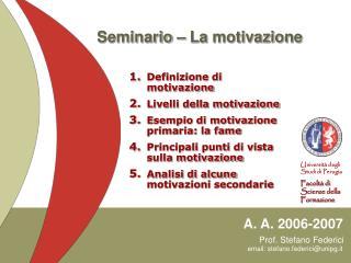 Seminario � La motivazione