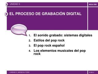 EL PROCESO DE GRABACIÓN DIGITAL