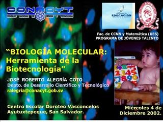 JOS   ROBERTO  ALEGR A  COTO Depto. de Desarrollo Cient fico y Tecnol gico ralegriaconacyt.gob.sv