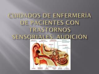 Cuidados de enfermería de pacientes con trastornos sensoriales: audición