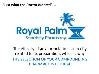 The efficacy of any formulation is directly related to its preparation, which is why