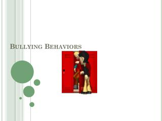 Bullying Behaviors