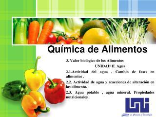 Qu�mica de Alimentos