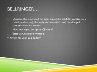 Bellringer …