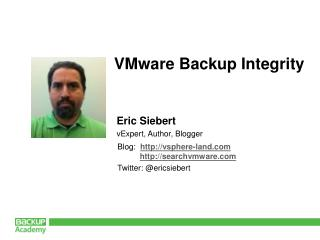 VMware Backup Integrity