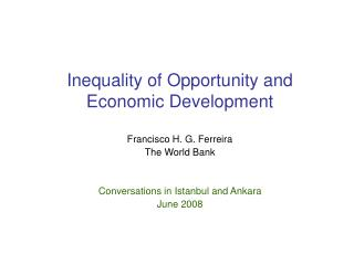 Inequality of Opportunity and Economic Development