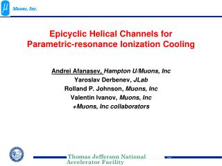Epicyclic  Helical  Channels for  Parametric-resonance Ionization Cooling