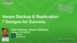 Veeam Backup & Replication:  7  Designs for  Success