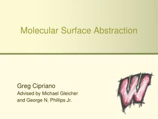 Molecular Surface Abstraction