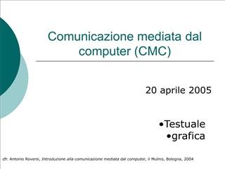 Comunicazione mediata dal computer CMC