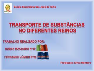 Transporte de substâncias  no diferentes reinos