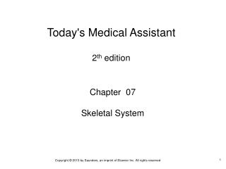 Chapter  07 Skeletal System