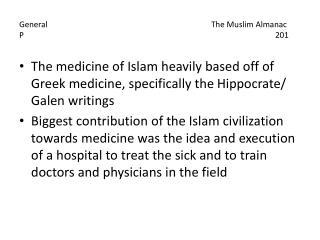 GeneralThe Muslim Almanac P201