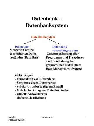 Datenbank   Datenbanksystem