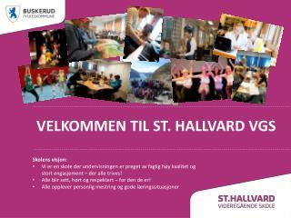 Velkommen til ST. HALLVARD VGS