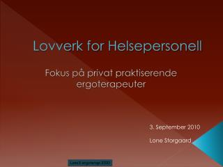 Lovverk for Helsepersonell