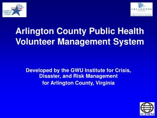Arlington County Public Health Volunteer Management System