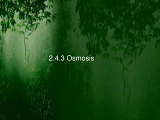 2.4.3 Osmosis