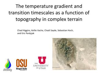The temperature gradient and transition timescales as a function of topography in complex terrain