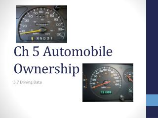Ch  5 Automobile Ownership