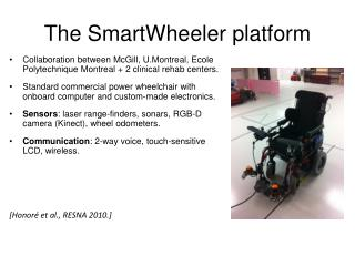 The  SmartWheeler  platform