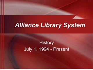 Alliance Library System