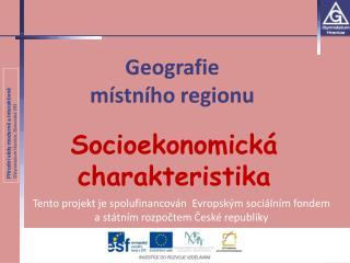 Geografie  místního regionu