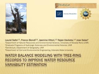 Water Balance Modeling with Tree-Ring Records to Improve Water Resource Variability Estimation