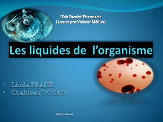 Les liquides de  l�organisme