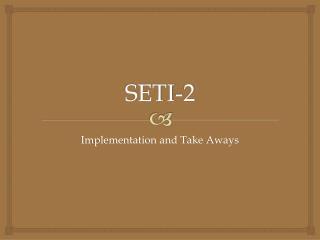 SETI-2