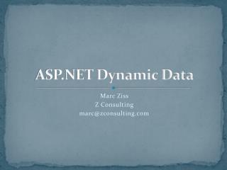 ASP.NET Dynamic Data