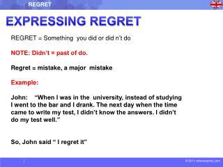 EXPRESSING REGRET