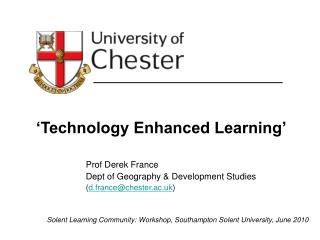 'Technology Enhanced Learning'