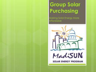 Group Solar Purchasing
