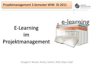 E-Learning  im  Projektmanagement