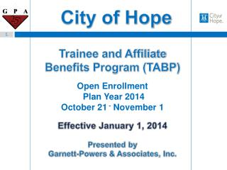 Trainee and Affiliate Benefits Program (TABP)