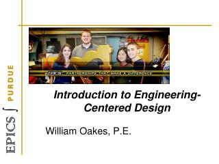 Introduction to  Engineering-Centered  Design