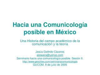 Hacia una Comunicolog