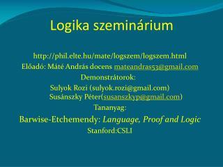 Logika szeminárium
