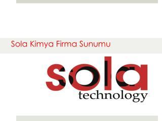Sola  Kimya  Firma  Sunumu