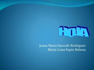 Juana María Saucedo Rodríguez                              María Luisa Espín  Bahena