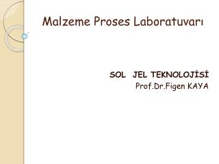 Malzeme Proses Laboratuvarı