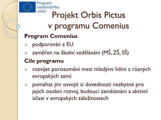 Projekt Orbis Pictus v programu  Comenius