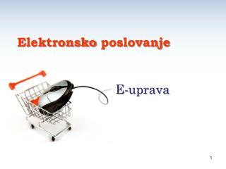 E- uprava