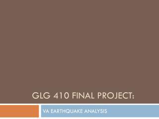 GLG 410 Final project: