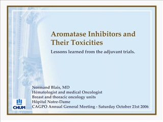 Aromatase Inhibitors and Their Toxicities