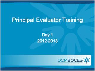 Principal Evaluator Training