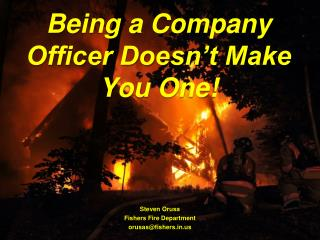 Being a Company Officer Doesn't Make You One!