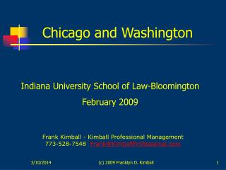 C 2009 Franklyn D. Kimball